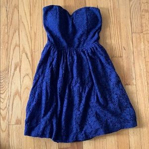 Lace Navy Blue Dress